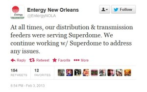 Entergy Tweet Feb. 3rd