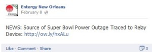 Entergy Facebook Feb. 8th